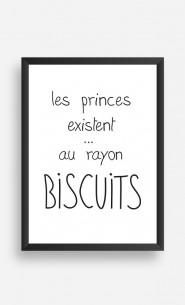 Cadre Les Princes Existent au Rayon Biscuits