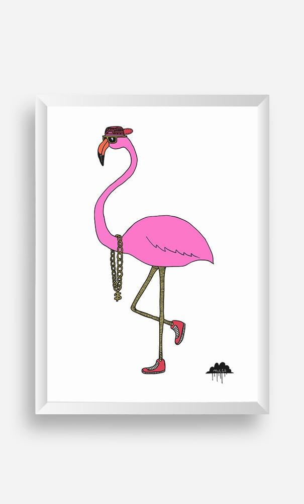 Cadre Frederick the Flamingo