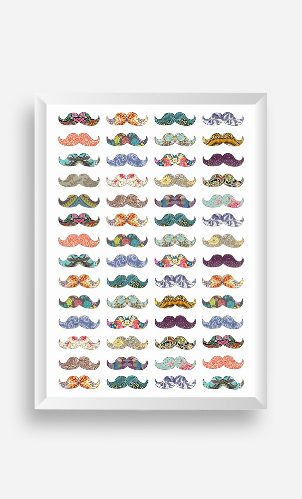 Cadre Moustache Mania
