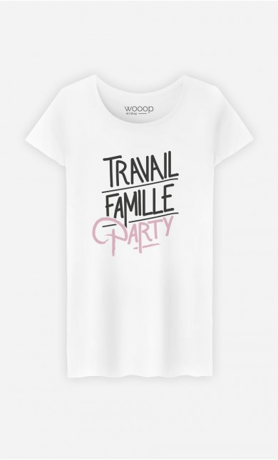 T-Shirt Femme Travail Famille Party
