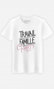 T-Shirt Homme Travail Famille Party