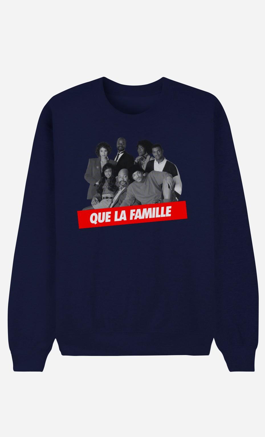 Sweat Bleu Que la Famille