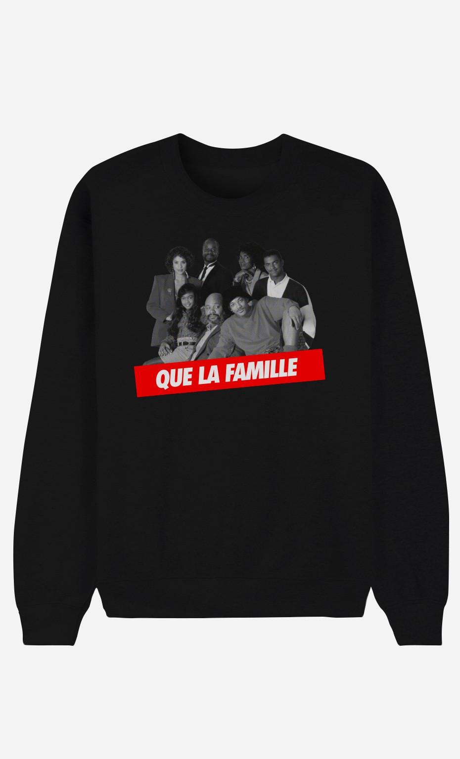 Sweat Noir Que la Famille
