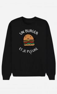 Sweat Femme Un Burger et Je Pleure