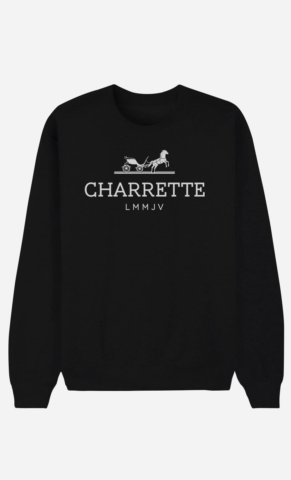 Sweat Noir Charrette Semaine