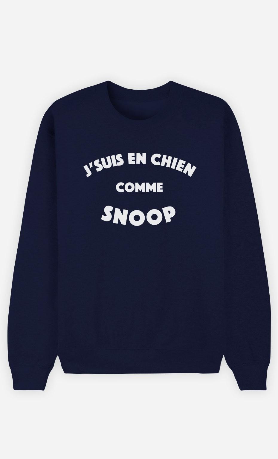 Sweat Bleu J'suis en Chien comme Snoop