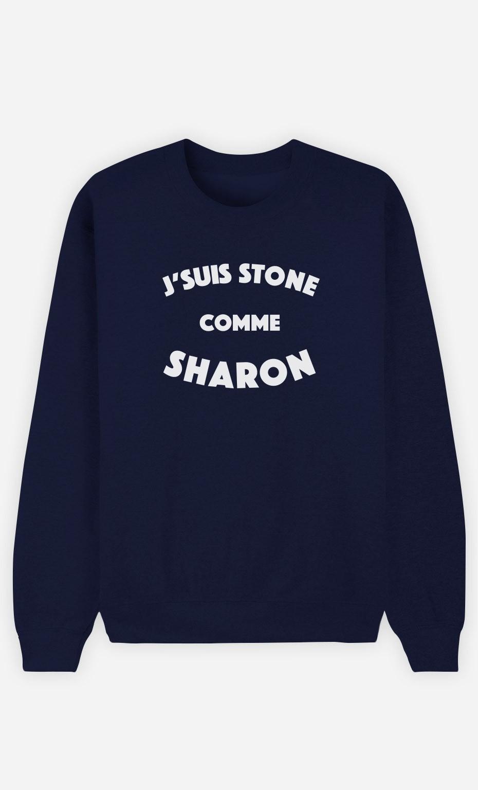 Sweat Bleu J'suis Stone comme Sharon