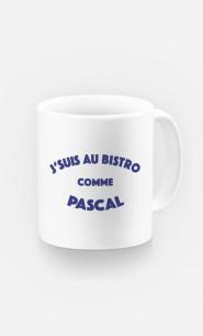 Mug J'suis au Bistrot comme Pascal