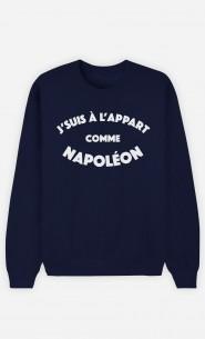 Sweat Homme J'suis à l'Appart comme Napoléon