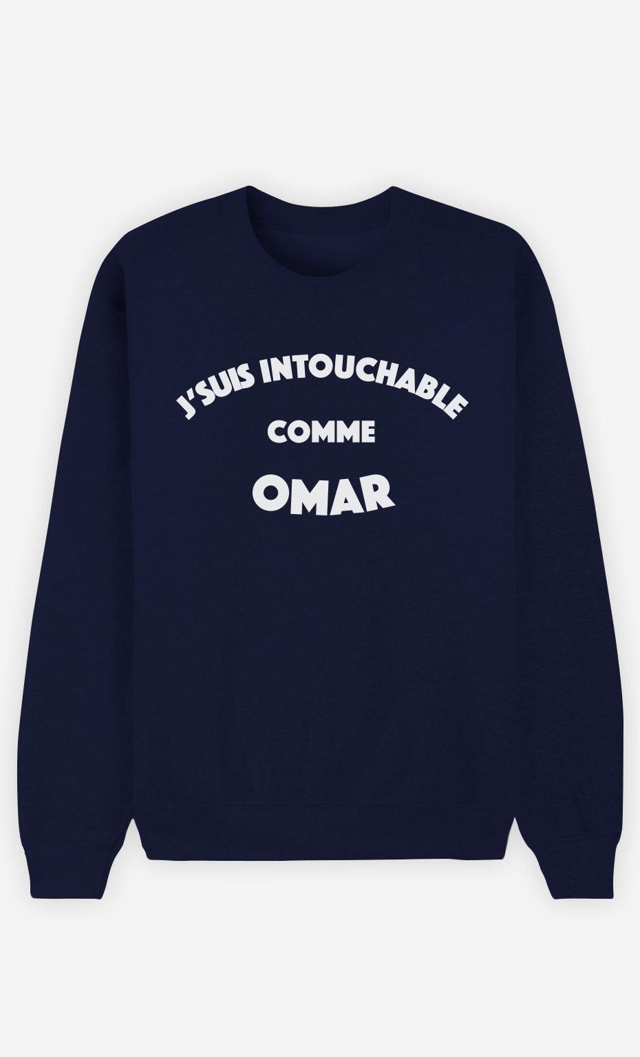 Sweat Bleu J'suis Intouchable comme Omar