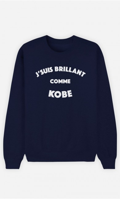 Sweat Homme J'suis Brillant comme Kobe