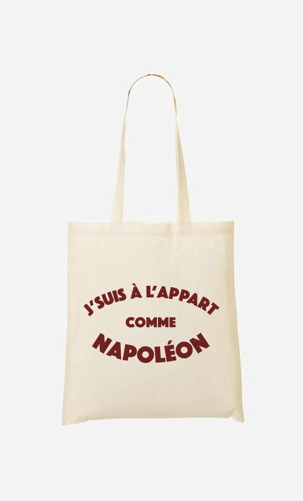 Tote Bag J'suis à l'Appart comme Napoléon