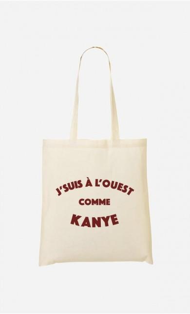 Tote Bag J'suis à l'Ouest comme Kanye