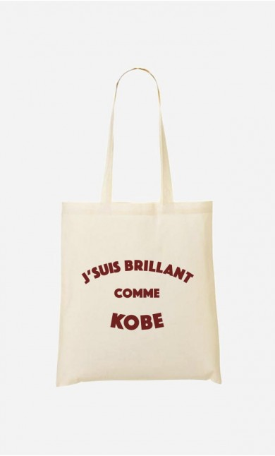 Tote Bag J'suis Brillant comme Kobe