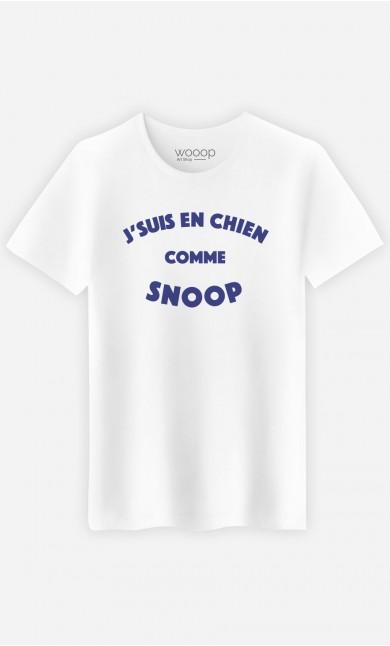 T-Shirt Homme J'suis en Chien comme Snoop