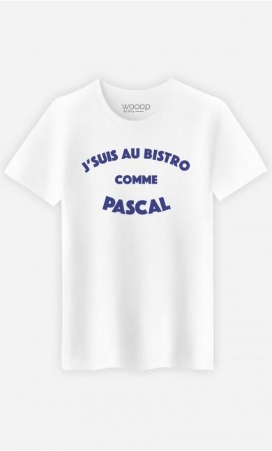 T-Shirt Homme J'suis au Bistrot comme Pascal