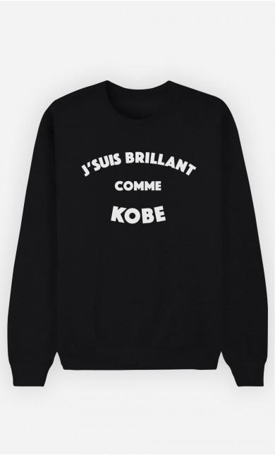 Sweat Noir J'suis Brillant comme Kobe