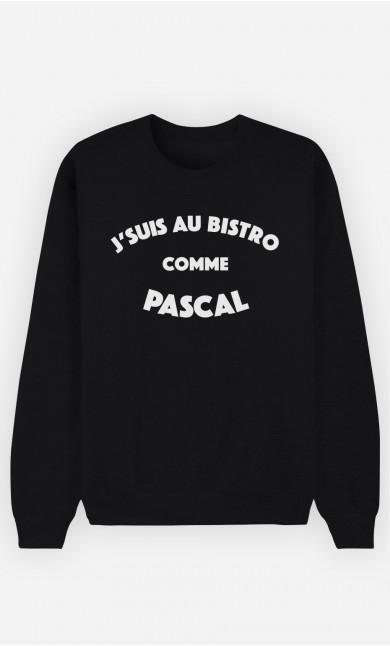 Sweat Noir J'suis au Bistrot comme Pascal