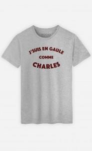 T-Shirt Homme J'suis en Gaule comme Charles