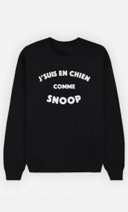 Sweat Homme J'suis en Chien comme Snoop