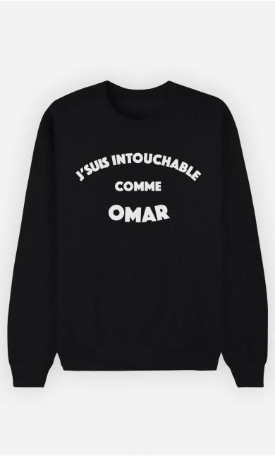 Sweat Noir J'suis Intouchable comme Omar