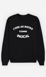 Sweat Homme J'suis au Bistrot comme Pascal