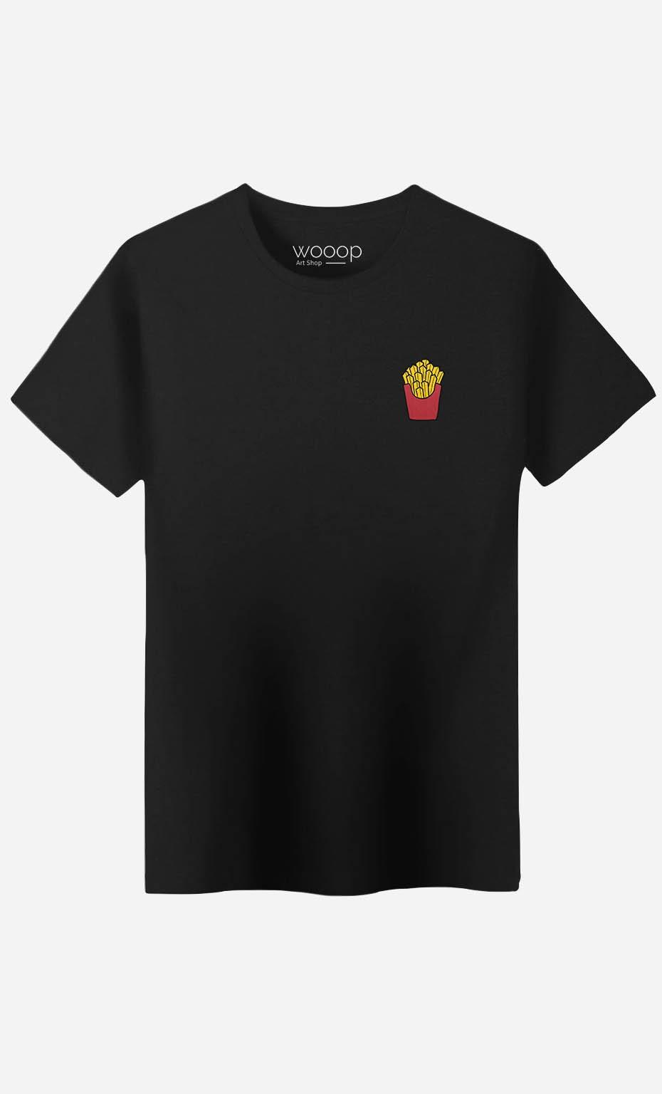 T-Shirt French Fries - brodé