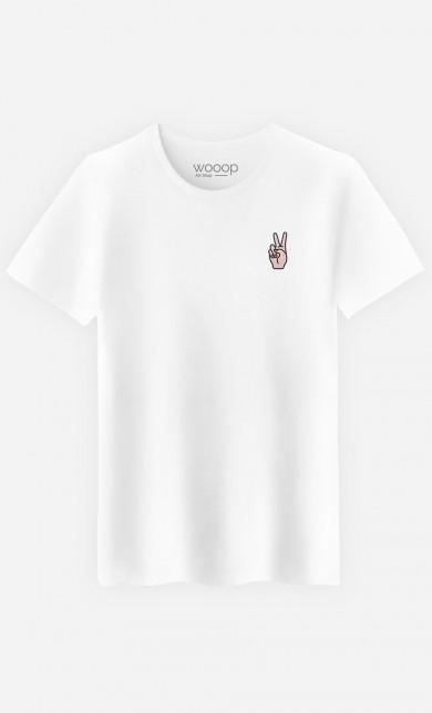 T-Shirt Peace - brodé
