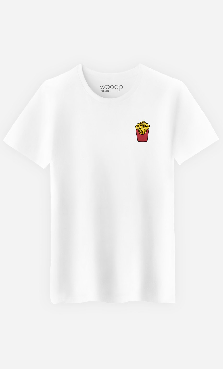 T-Shirt Homme French Fries - brodé