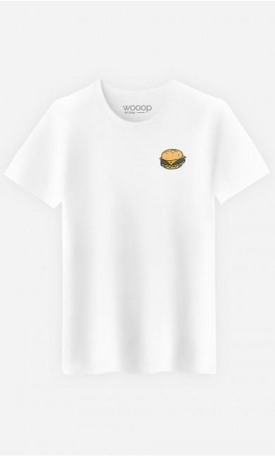 T-Shirt Burger - brodé