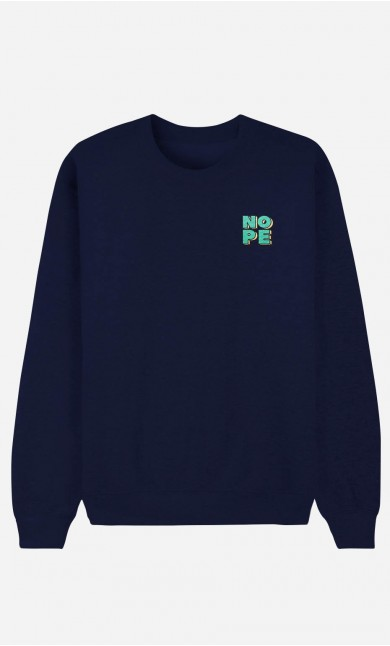 Sweat Homme Nope - brodé