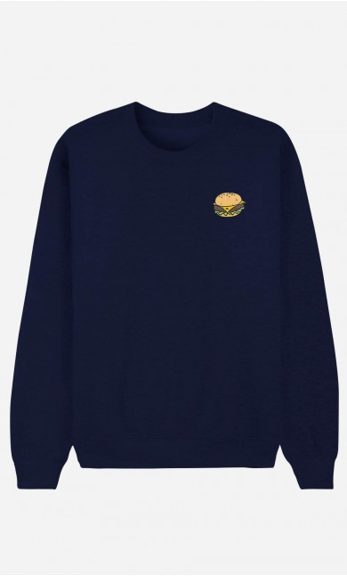 Sweat Homme Burger - brodé
