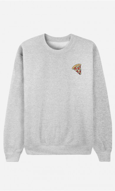 Sweat Homme Pizza - brodé