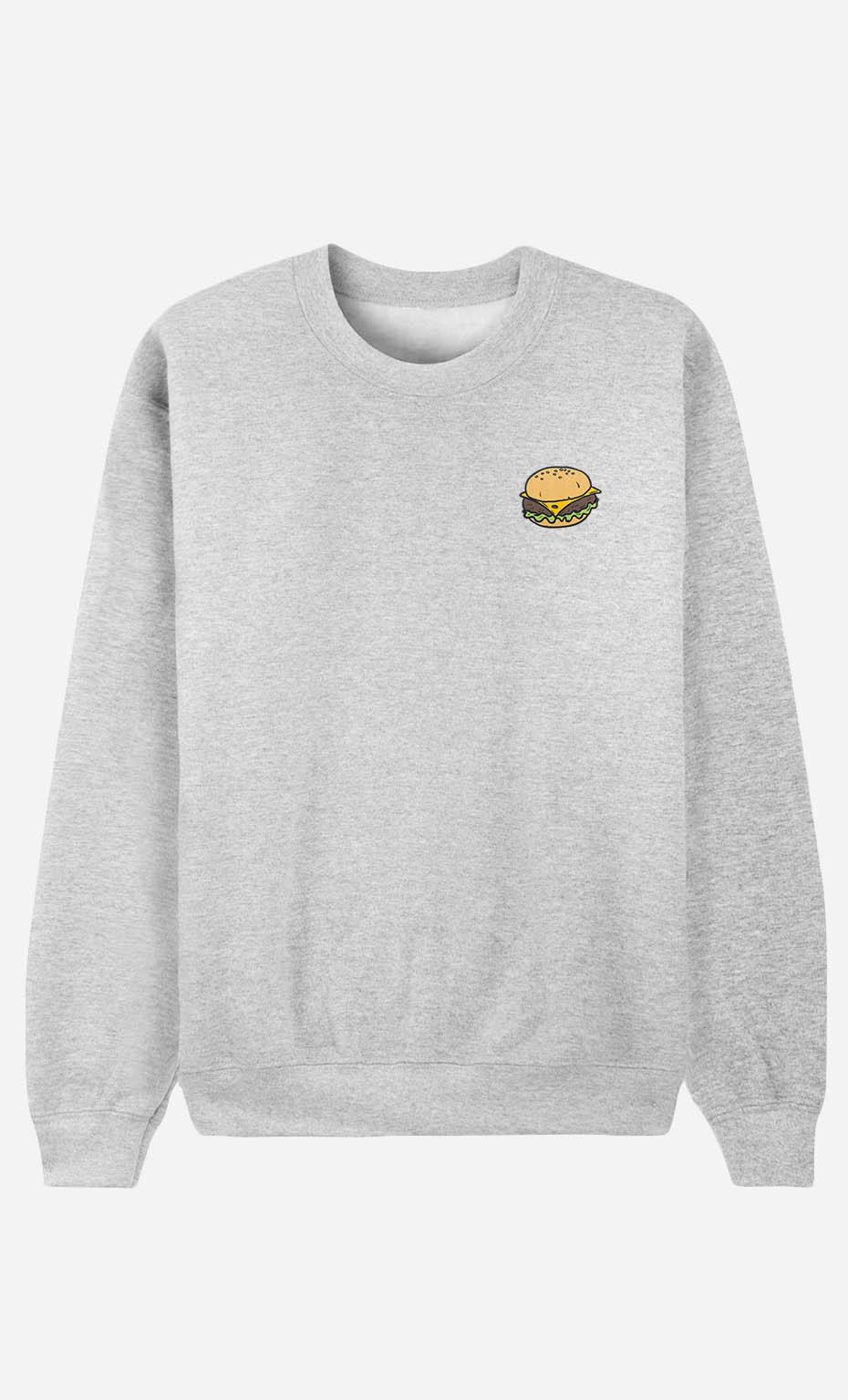 Sweat Homme Burger - brodé