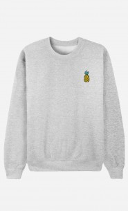 Sweat Homme Ananas - brodé
