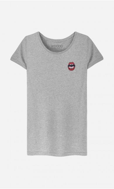 T-Shirt Femme Kiss - brodé