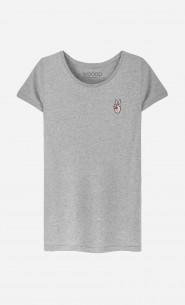 T-Shirt Femme Peace - brodé