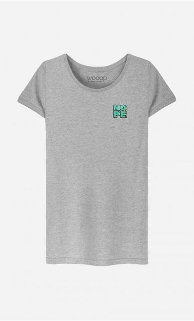 T-Shirt Femme Nope - brodé