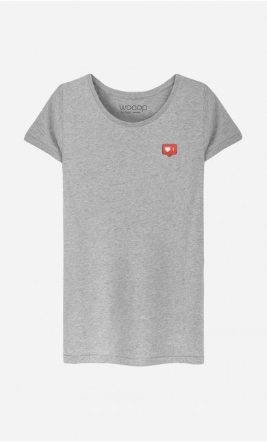 T-Shirt Femme Instagram - brodé