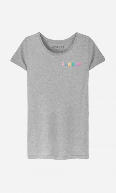 T-Shirt Femme Funday - brodé