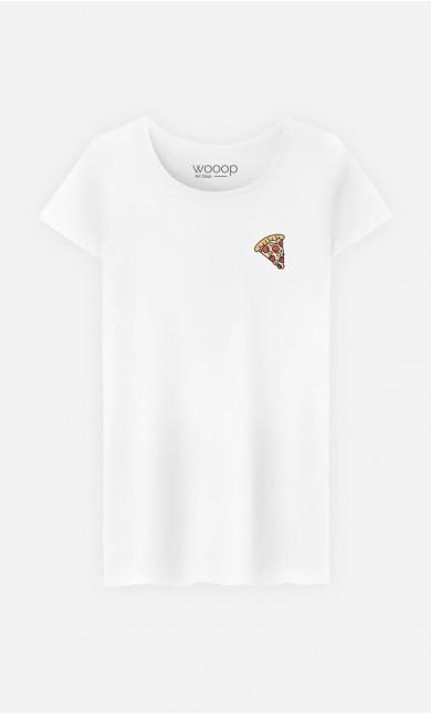 T-Shirt Pizza - brodé