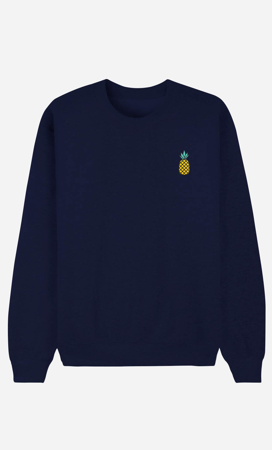 Sweat Bleu Ananas - brodé