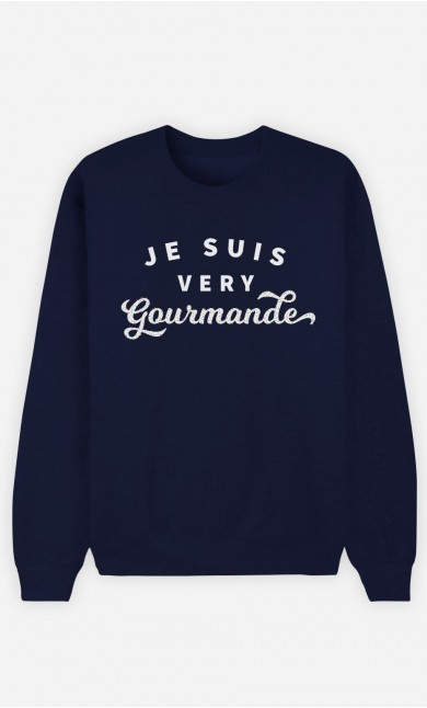 Sweat Bleu Je suis Very Gourmande