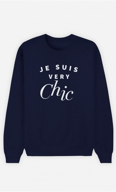Sweat Bleu Je suis Very Chic
