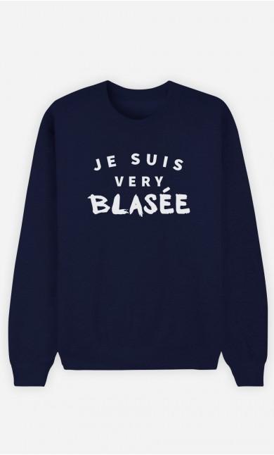 Sweat Bleu Je suis Very Blasée
