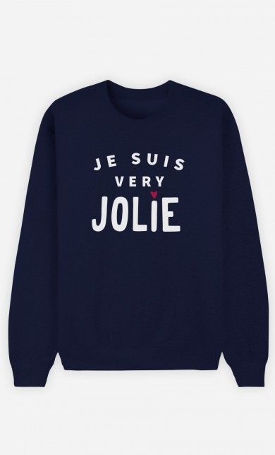 Sweat Bleu Je suis Very Jolie