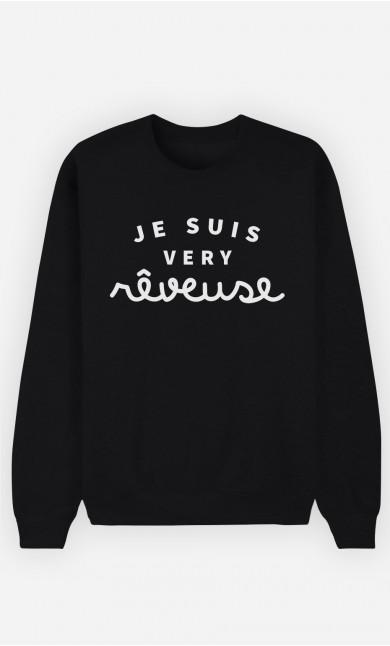 Sweat Noir Je suis Very Rêveuse
