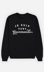 Sweat Noir Je suis Very Gourmande