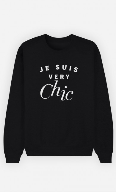 Sweat Noir Je suis Very Chic