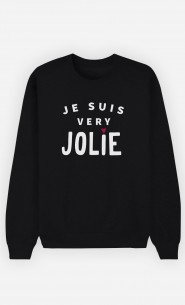 Sweat Noir Je suis Very Jolie